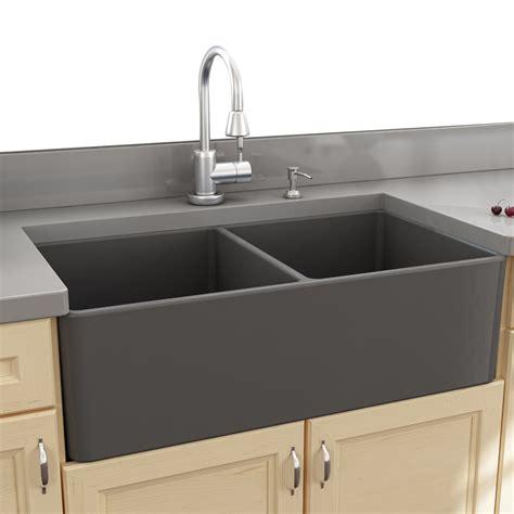 kitchen sink with nantucket sinks cape 33 25 quot x 18 quot double bowl apron