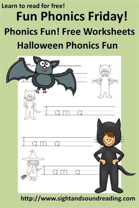 phonics worksheet  halloween fun activity