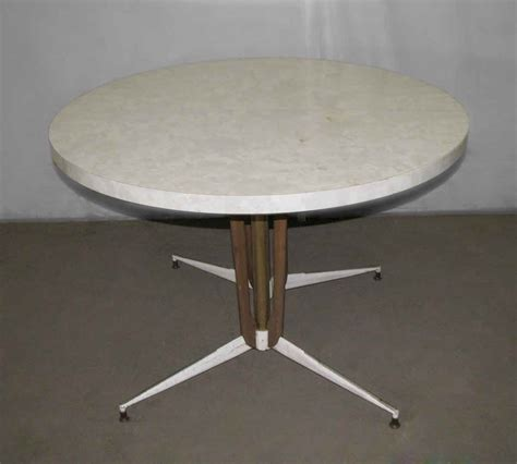 white vintage table l vintage round white table olde good things