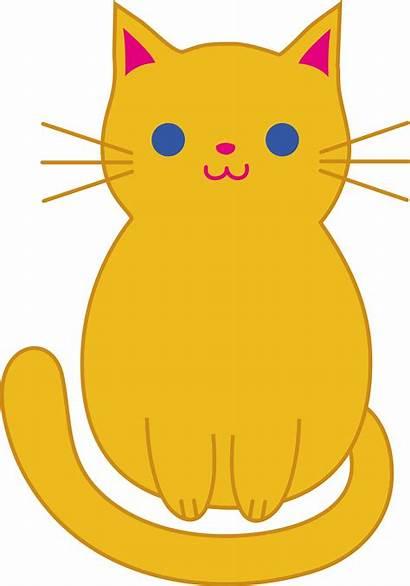 Cat Cartoon Clip Orange Kitty Clipart Cats