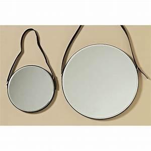 Spiegel Rund Hinterleuchtet : spiegel am lederband rund 25cm ebay ~ Indierocktalk.com Haus und Dekorationen