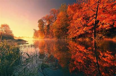 4k Fall Autumn Wallpapers Reflection Trees Nature