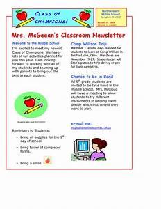 5th grade newsletter template best business template With 5th grade newsletter template