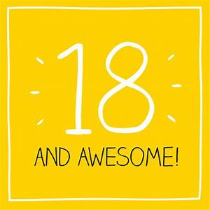 18th Birthday Card - Happy Jackson - 18 and Awesome