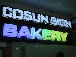 china acrylic full color led channel letter led sign With led channel letter signs