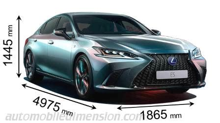 dimensions  lexus cars showing length width  height
