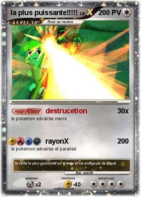 pok 233 mon la plus puissante destrucetion ma carte pok 233 mon