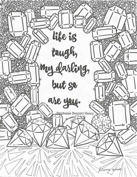 life  tough     quote digital print adult