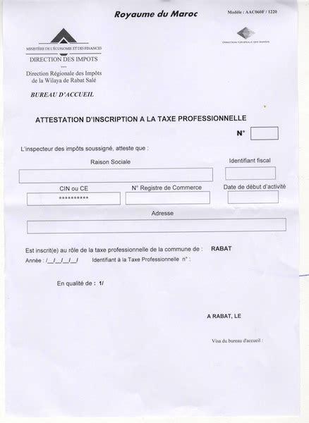 attestation de non imposition modèle n 4169 01 attestation d inscription 224 la taxe professionnelle