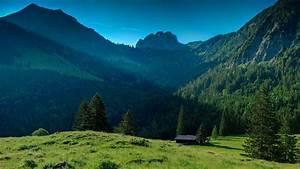 maison Montagnes paysages de nature Papier peint ...