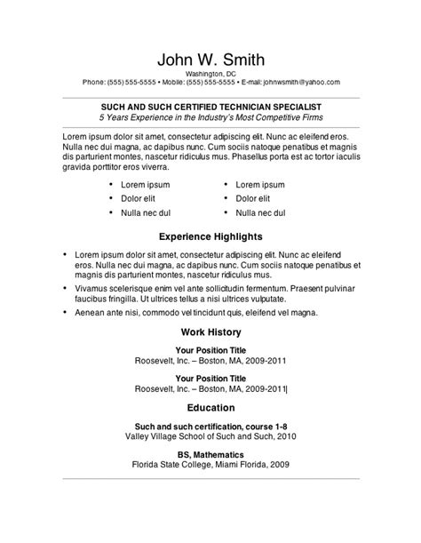 primer 6 resume template word open resume templates