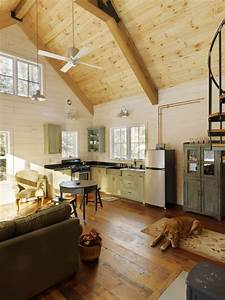 Sparkling Dog Trot Cabin With Wood Wall Vaulted Ceiling