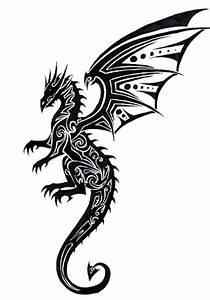 Simple Tribal Dragon Tattoo - ClipArt Best
