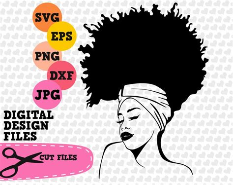 Select any of these black woman afro silhouette pictures that best fits your web designs or other projects. Black girl afro svg band svg afro lady svg file natural | Etsy