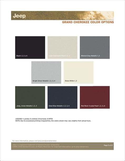jeep paint color chart