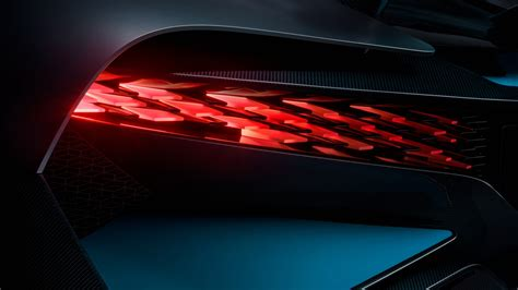 bugatti divo led tail lights  wallpaper hd car