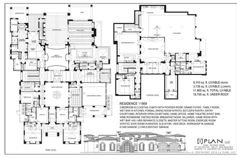 colonial floor plan floor plans 10 001 sq ft and up