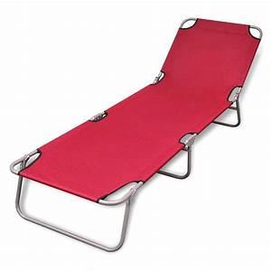 Bain De Soleil Pliable : bain de soleil rouge pliable avec dossier ajustable ~ Teatrodelosmanantiales.com Idées de Décoration