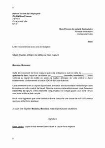 Pro Des Mots 195 : exemple gratuit de lettre rupture anticip e cdd par employeur force majeure ~ Maxctalentgroup.com Avis de Voitures