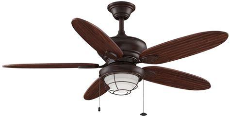 outdoor ceiling fan light kit fanimation fp7963rs rust 52 quot 5 blade outdoor ceiling fan