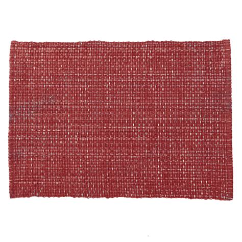 red woven cotton placemat