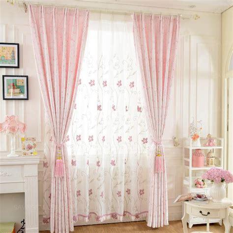beautiful curtains pink floral jacquard room darkening