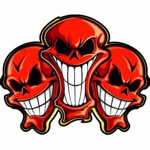 Coffret Verre Tete De Mort : tete de mort rouge triple 123 stickers site de vente en ligne de stickers et d coration adh sive ~ Teatrodelosmanantiales.com Idées de Décoration