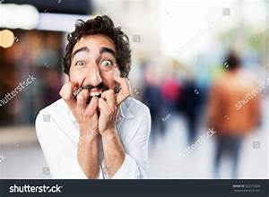 Young Funny Man Scared Pose Worried Stock Photo 522315628 ...
