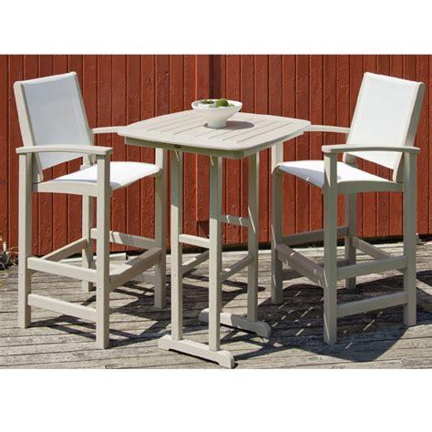 polywood coastal 3 piece hi top set furniture for patio