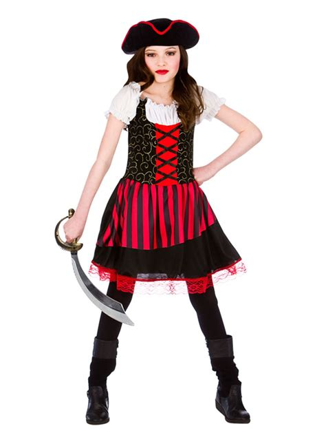Pretty Pirate Girl Childrens Caribbean Fancy Dress Costume Book Week Outfit | eBay
