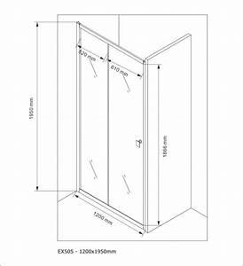 Paroi porte de douche en niche nano verre veritable for Porte douche hauteur 175