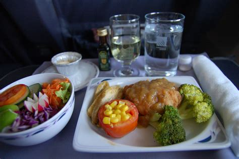 domactis cuisine united airlines domestic class airline food