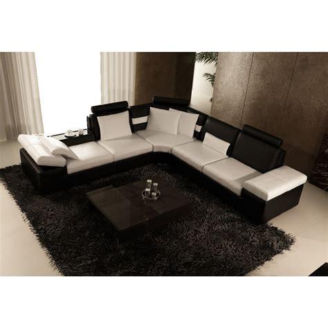 canapé en cuir design canapé d 39 angle design en cuir pleine fleur monaco pop