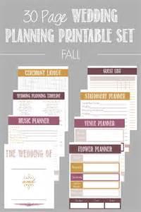 free printable wedding planner 30 page wedding planning printable set wedding planning bacon and 30th