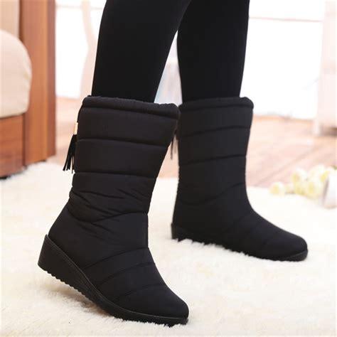 winter women boots mid calf  boots female waterproof