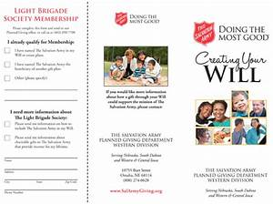 salvation army brochure salvation army planned giving With planned giving brochures templates