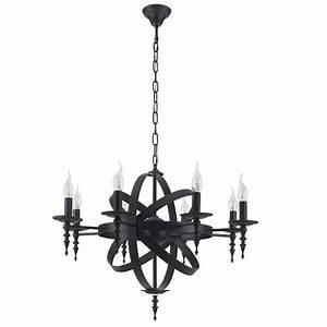 Kronleuchter Metall Schwarz : rustikaler kronleuchter cage metall schwarz wohnlicht ~ Markanthonyermac.com Haus und Dekorationen