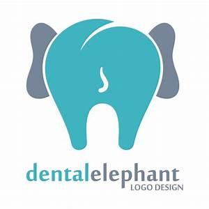 Dental elephant logos vector - Vector Logo free download