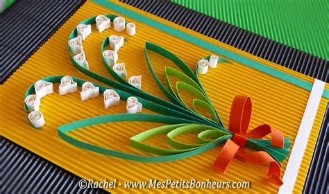 choix des couleurs pour une chambre muguets en papier avec la technique du quilling guide
