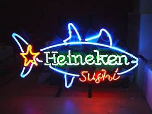 Wiki Neon Sign Blog HEINEKEN SUSHI SHARK BEER BAR NEON
