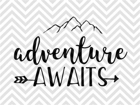 These free arrow svg files are great because you can use them by themselves and you can also use them with monograms, names, and other designs to add a special for this example i just took the heart arrow and duplicated it a couple of times and flipped the middle one to face the other direction. Adventure Awaits Arrow SVG and DXF EPS Cut File • Cricut ...