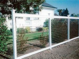 wire fence with painted wood posts wire fencing With white dog fence
