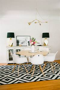 Interieuradvies welke eetkamertafel moet ik kiezen 5 for Inspiration ideas for black and white rug