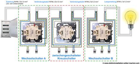 lichtschalter anschließen 3 adern kreuzschaltung anschlie 223 en elektroinstallation