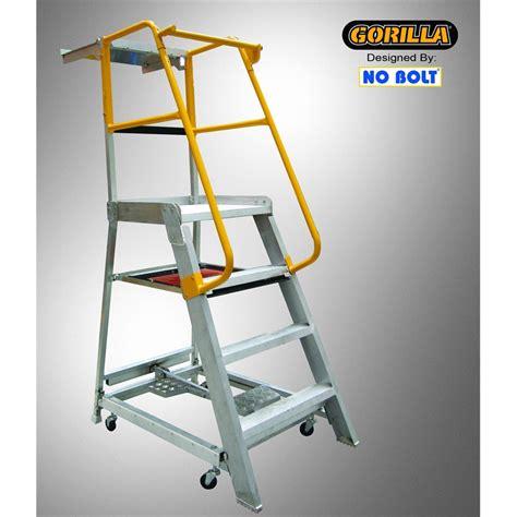 aluminium ladder bunnings gorilla 1 2m 200kg aluminium ladder order picker