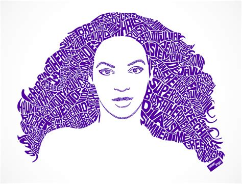 beyonce typographic design seanings photography design