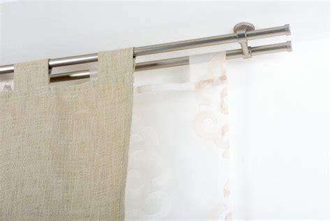 Bastoni Per Tende A Soffitto by Bastone Per Tende In Acciaio Satinato 216 20mm Con Supporto