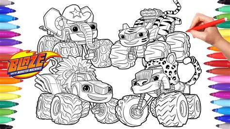 Blaze Monster Wild Wheels Coloring Pages Blaze and the