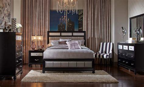 coaster bedroom furniture coaster barzini upholstered bedroom set black 200891
