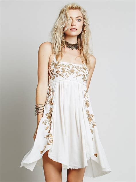 people intimately womens embroidered babydoll slip